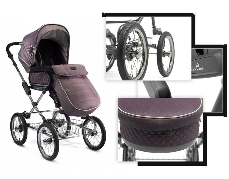 Функциональные прогулочные коляски с надувными колёсами