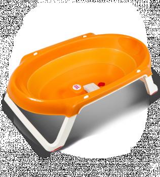 Ванна анатомическая Ok Baby Onda slim + подставка оранжевый