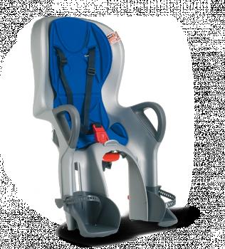 Велокресло Ok Baby 10+ откидное серый/синий
