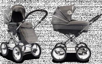 Люлька и прогулочный блок для коляски 2 в 1 Silver Cross Sleepover 3 Grey