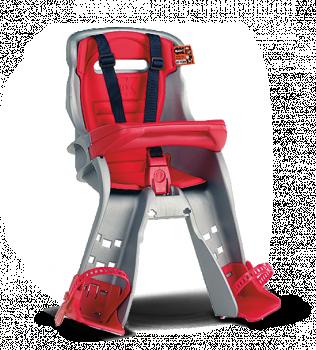 Велокресло Ok Baby Orion фронтальное + кронштейн серый/красный