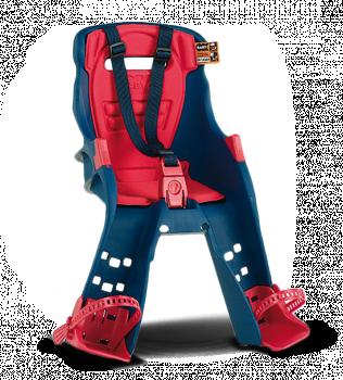 Велокресло Ok Baby Orion фронтальное + кронштейн синий/красный
