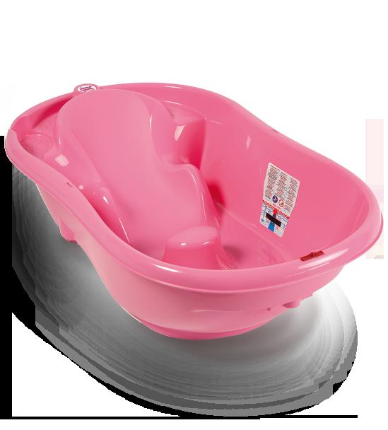 Ванночка анатомическая Ok Baby Onda розовый