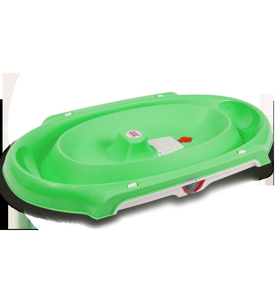 Ванна анатомическая Ok Baby Onda slim + подставка зелёный