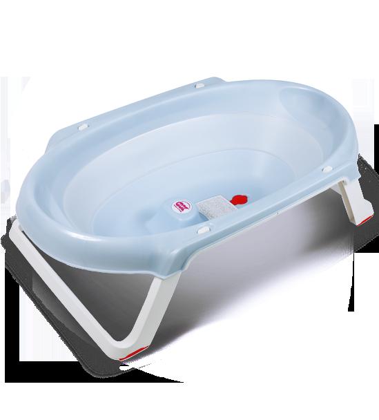 Ванна анатомическая Ok Baby Onda slim + подставка голубой