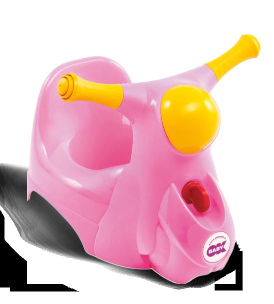 Горшочек Ok Baby Scooter розовый