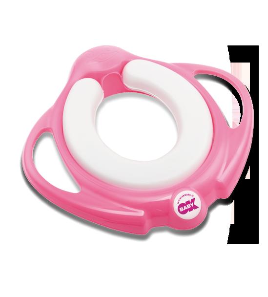 Сиденье на унитаз Ok Baby Pinguo Soft розовый