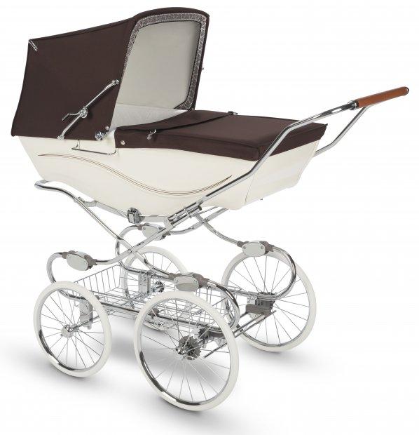 Коляска для новорожденных Silver Cross Kensington Cream/Brown