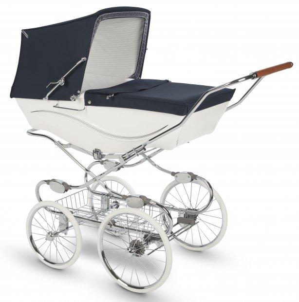 Коляска для новорожденных Silver Cross Kensington White/Navy