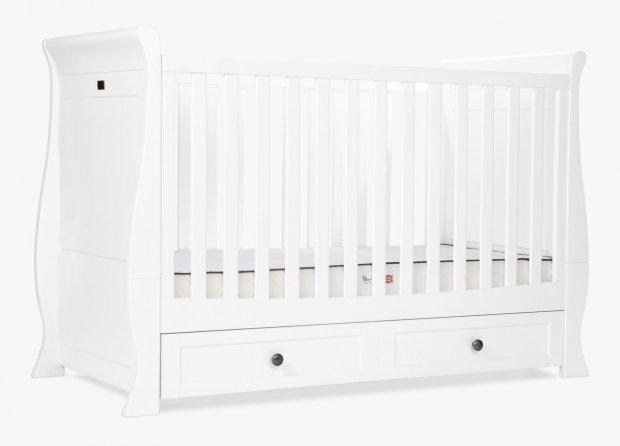 Кровать для детской комнаты Silver Cross Nostalgia White Sleigh Cot Bed