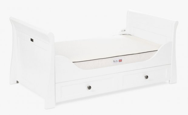 Кровать для детской комнаты Silver Cross Nostalgia White Sleigh Cot Bed