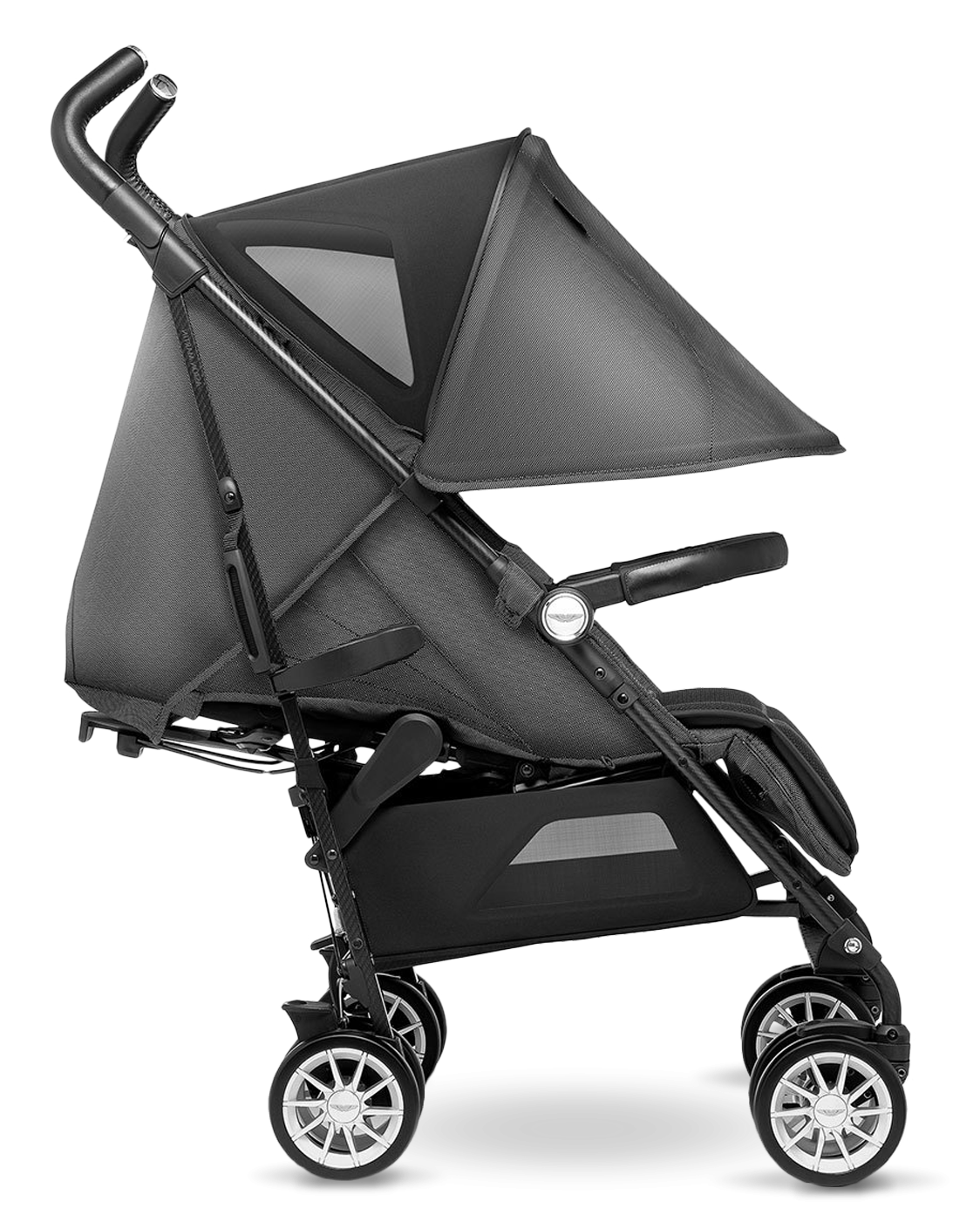 коляска трость Silver Cross Reflex Aston Martin купить легкая черная коляска для детей с рождения и до 25 кг официальный сайт Silver Cross