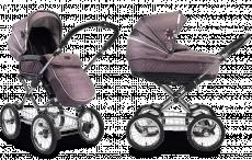 Люлька и прогулочный блок для коляски 2 в 1 Silver Cross Sleepover Mulberry