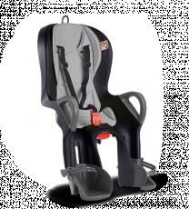 Велокресло Ok Baby 10+ откидное черный/серый